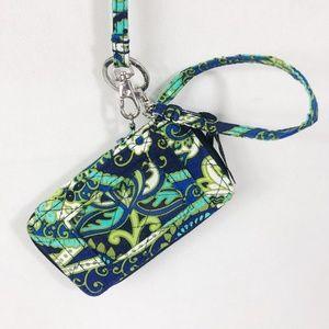 ! Vera Bradley | Navy Blue Green Wristlet Lanyard